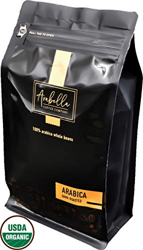 Arabella Coffee Co,Whole Bean Coffee, USDA Certified Organic Dark Roast Coffee Beans.