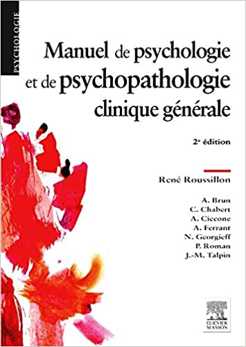 Amazon Fr Manuel De Psychologie Et De Psychopathologie