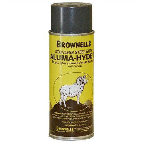 Brownells Aluma-Hyde 2 Epoxy Based Firearms Finish Aerosol Can Stainless Gray (Aerosol Gray Warm)