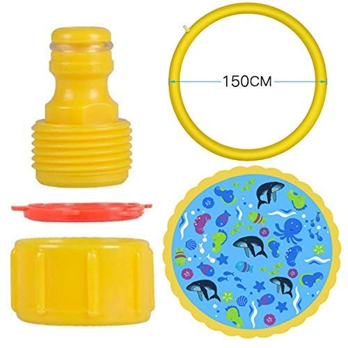 Fealay 59'' Kids Sprinkle and Splash Play Mat Inflatable Summer Water Pad Outdoor Sprinkler padToy Swimming Party for Kids Children Infants Toddlers Boys Girls by Fealay (Image #6)