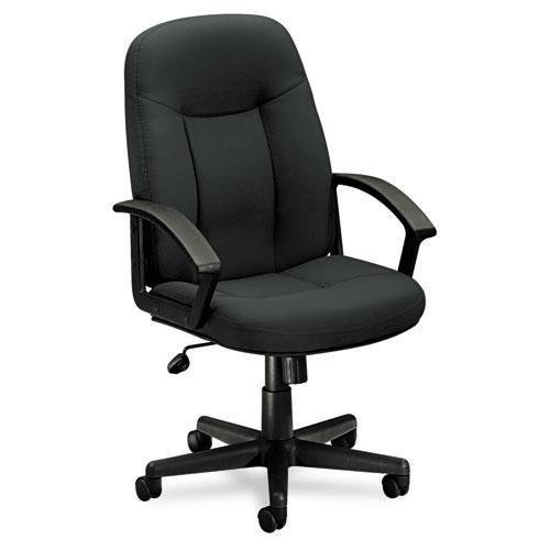 HON Executive High-Back Swivel/Tilt Chair, Charcoal Fabric/Black Frame -
