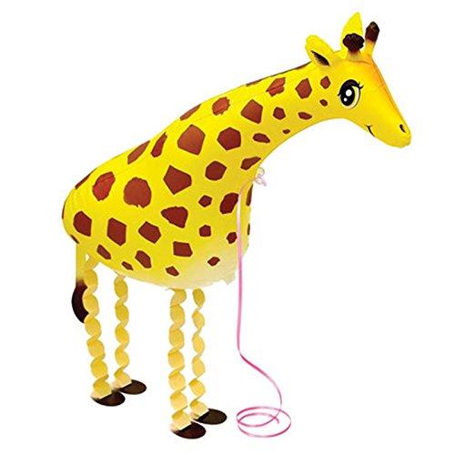 - elegantstunning 1Pcs Cute Cartoon Animal Pet Walking Foil Balloons Pet supplies Giraffe YT-019