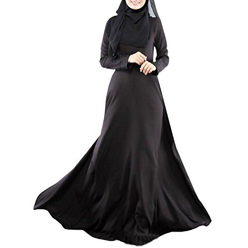 Aro Abaya De Femmes Lora Caftan Robe Djellaba Islamic Robe Usure Maxi Noir