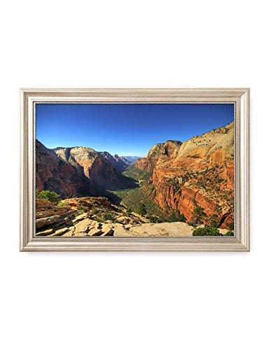 Zion National Park Usa Framed (DecorArts - Angel's Landing at Zion National Park, Utah. Giclee Canvas Prints for Wall Decor. 24x16