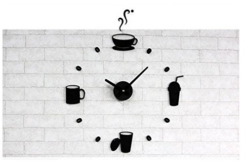 rt creative acrylic wall clock DIY clock clock fun clock ()
