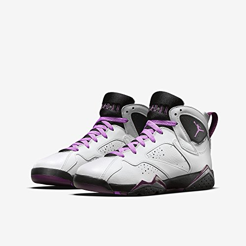 Nike Air Jordan 7 Retro GG, Scarpe da Corsa Bambina White, Fuchsia Glow-blk-mlbrry