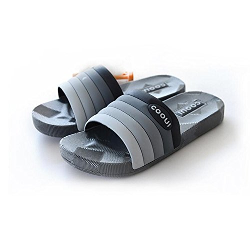 SUxian Creative Summer Couple Slippers Bathroom Non-slip Slippers Gradient Stripes Soft-soled Couple Slippers Sandals (Color : Grey, Size : 38/39) Pink
