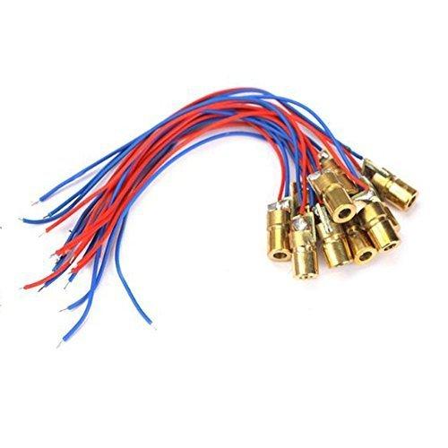 1 X WYHP Mini Laser Dot Diode Module Head WL Red 650nm 6mm 3V 5mW Pack of 10pcs