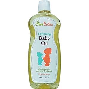 Olive Babies Softening Baby Oil, 12 fl.oz