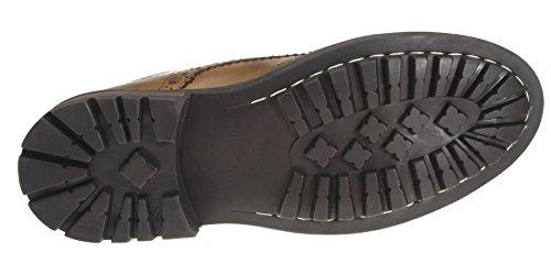 Marron Red Cuir Tape Men's Chaussures Devlin wxqZTxRX