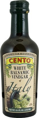 Cento - Italian White Balsamic Vinegar, (2)- 8.5 oz. Bottles 1 Product of Italy (Modena) Wonderful Blend of Italian White Wine Vinegar and the Must of White Grapes Use on Salads & in White Sauces