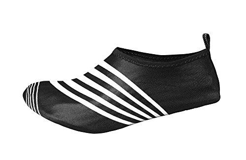Chaussures Deau Athlétiques Peach Couture Hommes Glisser Sur Les Chaussettes Aqua À Séchage Rapide Noir Blanc