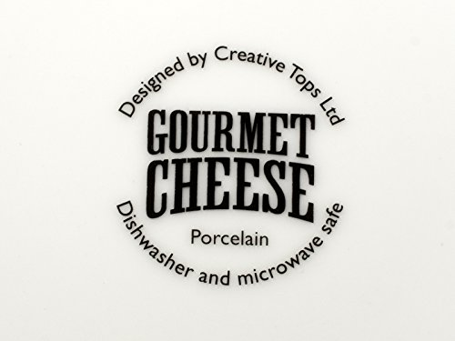 -[ Creative Tops Gourmet Cheese Porcelain Side Plates in Hat Box, Set of 4  ]-