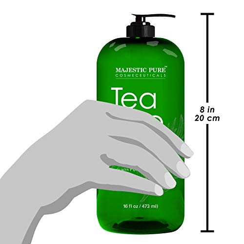 Majestic Pure Tea Tree Body Wash  Formulated to Combat Dry Flaky Skin  Soothes Nourishes and