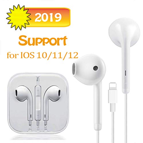 Suearpost Earbuds, Microphone Earphones Stereo Headphones Noise Isolating Headset Compatible with iPhone 11/11 Pro Max/7/7 Plus/8/8 Plus/XS/X/XS Max/XR Earphones