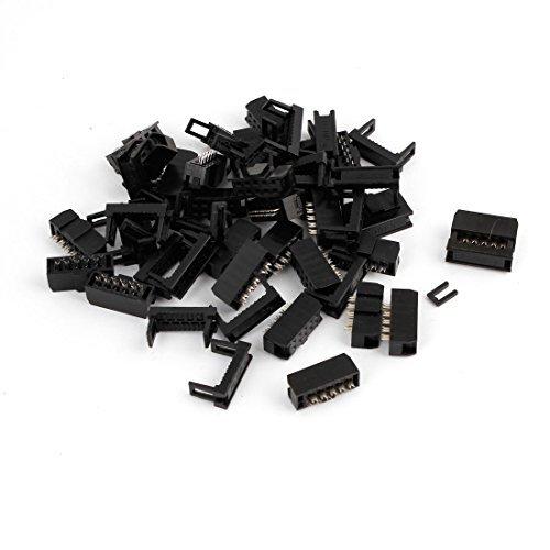 DealMux 25 Piezas JTAG Socket Conector ISP Flat cinta del cable de 10 pines 2, 54 mm DLM-B01871W1AA