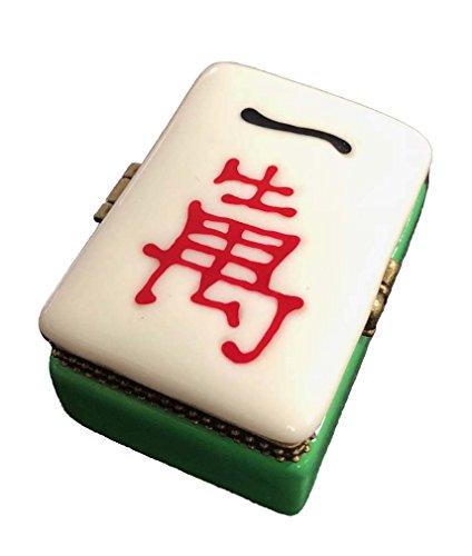 Art Gifts Chinese Mahjong Mah Jongg Tile Hinged Trinket ()