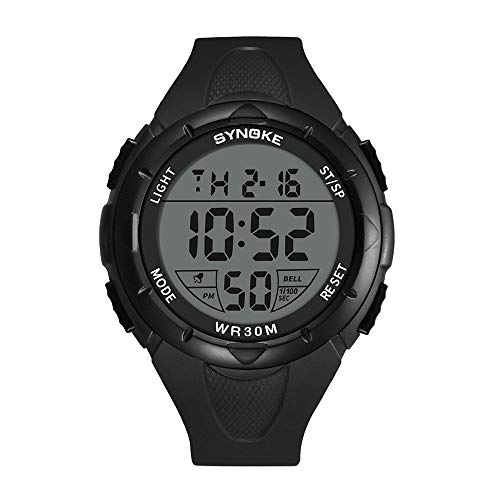 Fxbar,Mens Watches Military Army Running Seconds Timed Digital Sports Watch Stopwatch(Black)