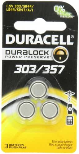 Duracell D303/357 Silver Oxide 3 Pack, (1 Pack of 3)