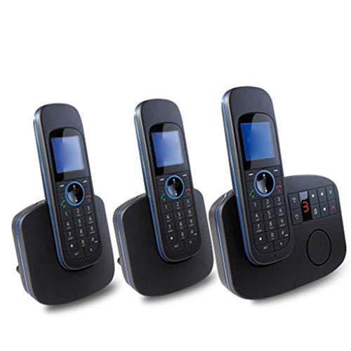 20 Minute Digital Answering Machine - GONGFF Telephone- Office Landline Home Wireless Fixed Telephone Extension, Four Specifications Black Mobile Phone Welcome (Size : 1+2)