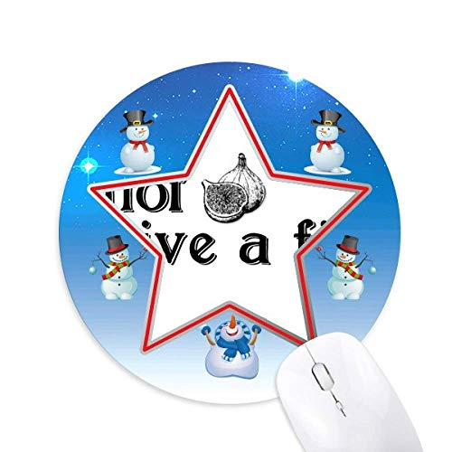 Interesting Catchword Fig Snowman Mouse Pad Round Star Mat