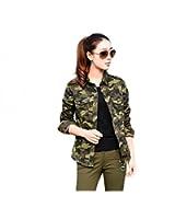 Naaz women's Casual Army Military Green Shirt (Khaki Green)