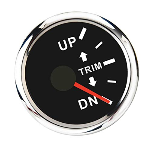 KESOTO Mini Round Boat Trim Gauge - Marine Trim Tilt Indicator for Inboard/Outboard Engine Car Motorcycle, Right Display: Amazon.co.uk: Sports & Outdoors