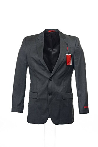 Alfani Red Slim Dark Grey Solid Wool New Men's Suit Separate Blazer (42 Short)
