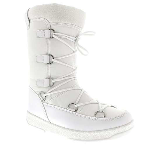 Polar Snow Boots Fleece White Waterproof Womens Thermal Products Durable Knee Winter rTZaqpxrw