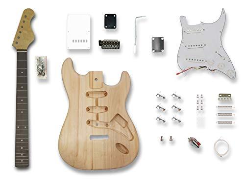 (DIY Electric Guitar Kits for Stratcaster Electric Guitar,Poplar wood Body,)