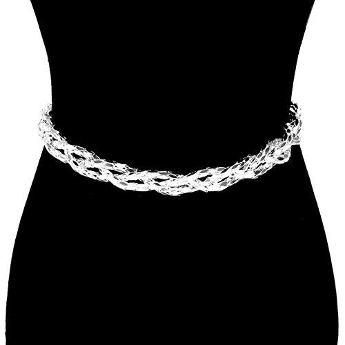 Trendy Fashion Braided Metal Chain Belt Waist Belt For Women. / - Chains Rihanna