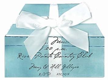 bridal shower invitations tiffany blue ring box pack of 10