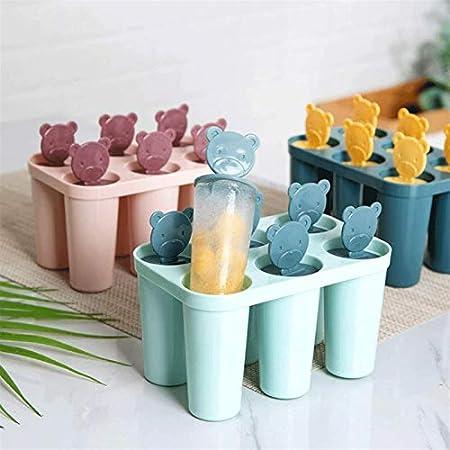 Sdesign Bandeja de Cubo de Hielo Líparas sellables Easy Lanzamiento Silicona Silicona Bandeja de Hielo Cuadrado Cubo de Hielo Moldes, Whisky Baby Food Freezer (Color : Blue)