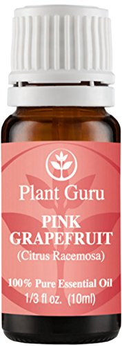 Grapefruit (Pink) Essential Oil 10 ml. 100% Pure Undiluted Therapeutic Grade for Aromatherapy Diffuser, Skin, Body and Hair, Natural Stress Relief & Cleaner