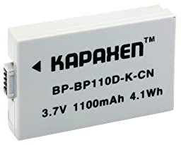 Kapaxen Two Intelligent BP-110 Batteries & Charger for Canon VIXIA Camcorders