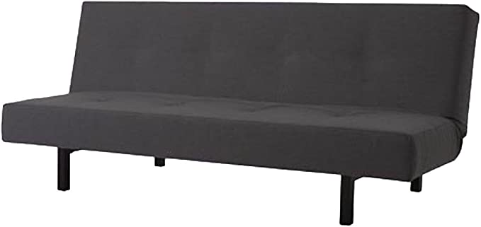Cotton Balkarp Cover Replacement. Cover Only! Futon is not Included! Size: 190cm Wide, Not 170cm!, Custom Made for IKEA Balkarp Sofa Bed, Or Futon Slipcover (Cotton Dark Gray)