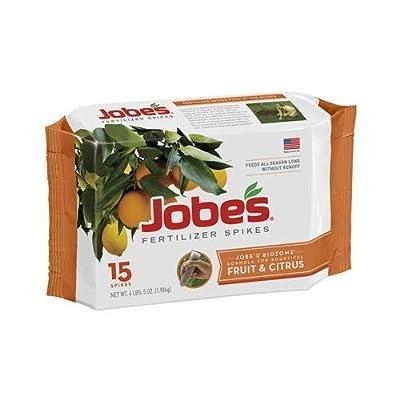 Easy Gardener 01612 Fertilizer Spikes for Fruit & Citrus Trees, 9-12-12, 15-Pk.