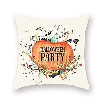 Funda de almohada decorativa con diseño de calabaza de Halloween ...