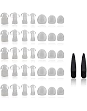 Hearing Aid Domes - Universal Domes for Hearing Aids - Sizes Small, Medium, Large & X-Large Earbud Replacements and BTE Hearing Sound Amplifiers