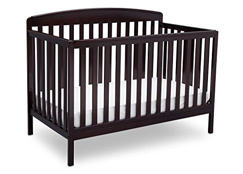 Delta Children Brayden 4-in-1 Convertible Baby Crib, Dark Chocolate