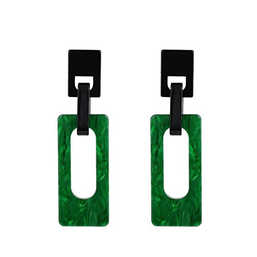 Geometric Acrylic Earrings for Women Girls Cellulose Acetate Earrings Rectangle Pendants ()
