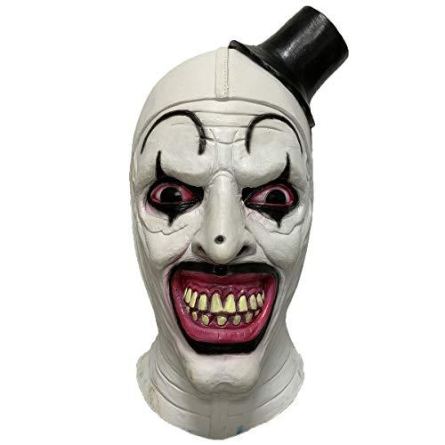 LePy Terrifier Clown Latex Mask Horror Halloween Movie Cosplay Costume Props White (Movie Props Masks)