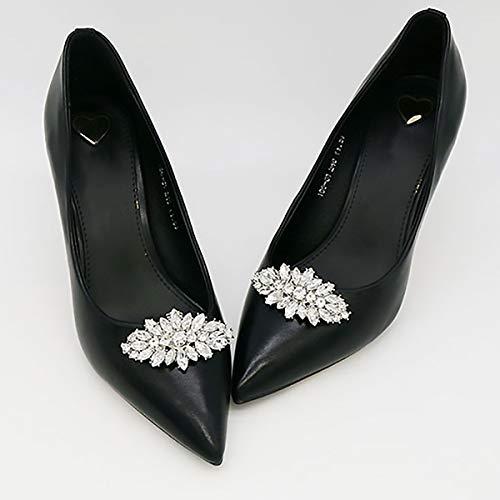 FEESHOW Elegant Rhinestone Crystal Metal Shoe Clips Wedding Party Pack Type C One Size by FEESHOW (Image #6)