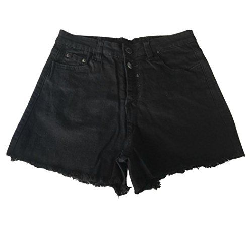 pantalons Femmes dchir trou Winwintom chauds haute Denim Jeans taille Shorts dchir Noir zqdawgxw5t