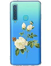 Oihxse Case Transparente Suave TPU Compatible con Samsung Galaxy J2 Pro 2018 Funda [Lindo Caricatura Flor Serie Dibujos] Cristal Protector Carcasa Anti Rasguños Bumper Cover-Gardenia