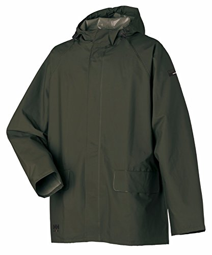 Helly Hansen Workwear Men's Mandal Rain Jacket, Army Green, Large