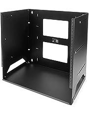 "StarTech.com 8U 12"" x 18"" Wall-Mount Server Rack with Built-in Shelf, Black (WALLSHELF8U)"
