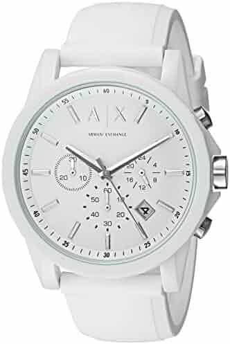 Armani Exchange Men's AX1325 White Silicone Watch