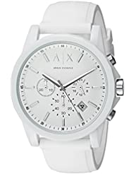 Armani Exchange Mens AX1325 White Silicone Watch