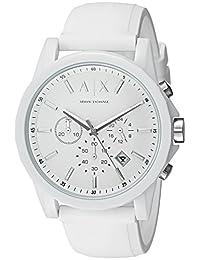 Armani Exchange AX1325 Watch, Men, White Silicone